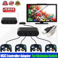 Nintendo Anahtarı Wii U ve PC USB Oyun Adaptörü için 1X GameCube Kontrolörü Adaptörü