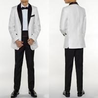 Mode Jungen Smoking Jungen Drei Stücke Jungen Formelle Anzüge Smoking für Kinder Weiß Formelle Anzüge Anzüge Für Kleine Männer