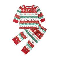 유아 어린이 아기 소년 소녀 크리스마스 옷 크리스마스 잠옷 잠옷 잠옷 세트 PJS / BY