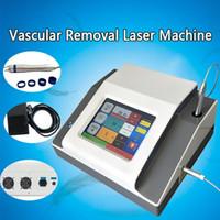 Nouveau venu 0.2mm 0.5mm 1mm 2 mm 3 mm écran tactile de taille 5 tache 980nm diode vaisseau sanguin laser removal machine télangiectasie