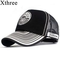Xthree Sommer-Baseballmütze-Druck-Ineinander greifen-Kappen-Hysteresen-Hüte für Männer Frauen Männer beiläufige Hip-Hop-Hut-Kappen und Hüte Y19052004