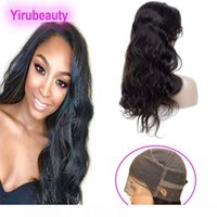 B brésilienne Virgin Hair 360 Lace Frontal perruques 8 -26inch corps couleur naturelle vague 360 dentelle perruque corps sangles ajustables de dentelle de vague perruques