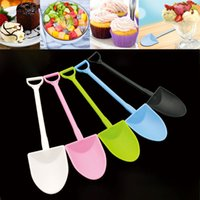 Colorful Disposable Plastic Cake Spoon Potted Ice Cream Scoo...