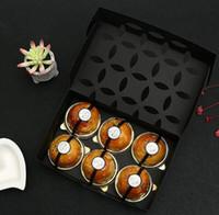 100pcs / lot 22 * 14 * 5 cm Yaratıcı Dikdörtgen Hollow Out Kek Kağıt Hediye Kutusu Kurabiye Mooncake Cupcake Kutu Ambalaj
