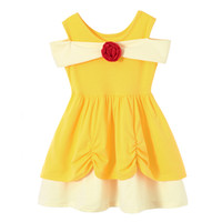 Little Girls Princess Summer Cartoon Children Kids princess ...