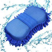 새로운 자동차 케어 자동차 마이크로 화이버 셔닐 워시 미트 세척 세척기 장갑 미세 파이버 스폰지 헝겊 자동차 세탁기