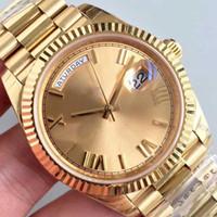 Männer Uhren 18CT Rose Gold 41mm Zifferblatt Saphirglas Automatische Mechanische 12 Stil Edelstahl Original Faltschnalle Armbanduhr