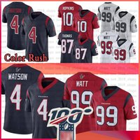 4 Deshaun Watson Jersey 99 J.J. Watt 10 DeAndre Hopkins 87 Demaryius Thomas Football Jerseys