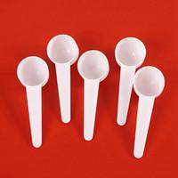 20 ml PP Medir plástico cucharada de plástico 10g cuchara dosificadora blanca condimento Leche en Polvo para hornear que cocina para hornear Herramientas HHA1342