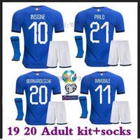 2019 Italy Adult Kits+ socks soccer Jersey CANDREVA CHIELLINI...
