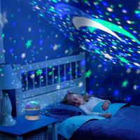 Красочный светодиодные проекции звезды USB Night Light Moon лампа батареи Дети Подарок Детская Спальня Лампа для проектора для вечеринок XD22918