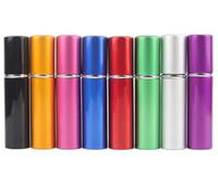5 ml Mini Frasco de Perfume Spray de Viagem Recarregáveis Vazio Recipiente Cosmético Frasco de Perfume Atomizador Garrafas De Alumínio Recarregáveis