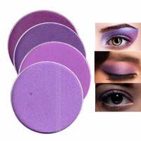 Color Salon INS Popular Purple Eye Shadow Powder Make Up Matte Glitter Shimmer Pigment Crystal Makeup Cosmetics