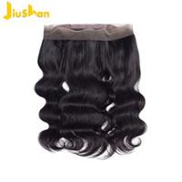 레이스 인간 직조 8-20inch 몸 직조 머리 직조 자연 색상 머리 100 % 버진 인간의 머리 가발 페루 360 레이스 전면