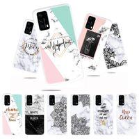 Marmo Fiore TPU per Iphone 11 PRO MAX X XS XR 8 7 PLUS 6 6S SE 5 5S Huawei P40 Godetevi 10S Roccia della copertura del telefono di lusso
