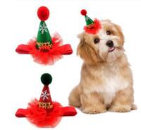 2019 Новый Рождество Собака Кошка Hat Дизайн Щенок шапки с Headband Симпатичные пришивания Дизайн Деревообрабатывающий Cap Рождество партии Домашние принадлежности GC4