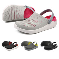 2019 New Whole sale Soft bottom breathable non slip sandals for men women black white sports sneakers size 37-44 free shipping