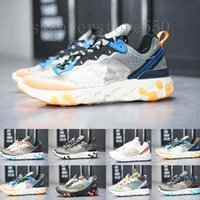 nike Epic React Element 87 2019 Reagir Elemento 87 Volt 55 Jogo Real Gravado Costuras tênis para mulheres homens 55s Blue Chill instrutor 87s Sail Sports Sneakers HJ954
