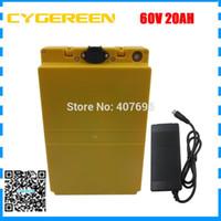 1500W 60volt Lithium-Akku 60V 20.3AH mit Plastikgehäuse elektrische Fahrradbatterie 60V20AH verwenden Panasonic 18650 Zelle 2A Charger
