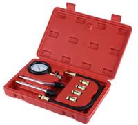 سيارة أداة تشخيص السريع نوع الضغط مقياس تستر كيت موتور السيارات البنزين محرك الغاز اسطوانة ضغط مقياس تستر أداة مجانية