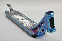 도매 Funsea 중국 제조 업체 새로운 성능 알루미늄 합금 6061 스쿠터 부분은 파란색 킥 스쿠터 스턴트 갑판 갑판 PVD