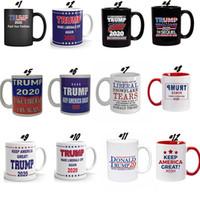 12 개 스타일 트럼프 2020 컵 커피 머그컵 핸드 그립 세라믹 컵 만화 도널드 트럼프 물 컵은 미국의 위대한 다시 도자기 머그컵 24PCS 확인