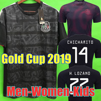 2019 Gold Cup Camisetas Mexico 19 20 MEN WOMEN soccer jersey...