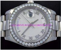 2019 Orologi di lusso Orologi da polso in acciaio inossidabile 218349 Orologio da uomo automatico con castone di diamanti in oro bianco 18 carati