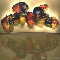 Современный арт деко европейский стиль ручной выдувное стекло стены искусства украшения Чихули стиль многоцветный муранское стекло подвесные плиты стены искусства