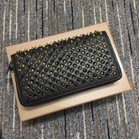 In the New fashion leather long square rivet wallet high qua...