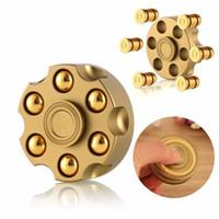 Novo 2019 Finger spinners puro cobre seis-bala revólver destacável EDC descompressão Rotativa Dedo spinners brinquedo
