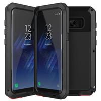 Volledige beschermingspantser metalen Heavy Duty Protection Case Schokbestendig Cover voor iPhone XS MAX XR X 8 7 6 Plus Samsung Galasy S10 E S9 S8 Note 9