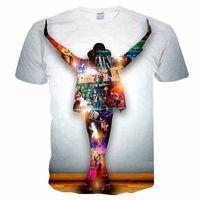 マイケル・ジャクソンTシャツダンス服シャツティー服Tシャツ男性面白2019ヒップホップカジュアル夏
