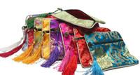Высокое Качество Квадратный Китайский Шелковый Пятно микс 12 цветов Дисплей Ювелирных Изделий Упаковка Мешок Молния Свадьба Пользу Мешок Подарка