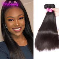 Peruanisches menschliches Haar Nerz 3 Bündel Gerade 95-105g / piece Natürliche Farbe Remy Hair Extensions 8-30 Zoll Günstige doppelte FEFTS