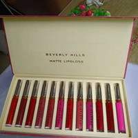 Mais novo Hot Maquiagem Novos Batons Set 12 Pçs / Set Luquid Matte 12Colors Lip Gloss DHL Shipping