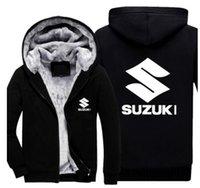 5XL размер зимняя куртка мужчины сгущают молнии с капюшоном Suzuki толстовка верхняя одежда теплое пальто куртка толстовки топы