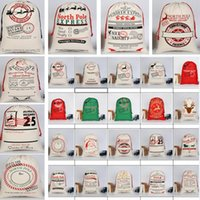 20 스타일 크리스마스 장식 선물 가방 큰 졸라 캔버스 가방 산타 자루 유기 가방 순록 산타 클로스 50 * 70 센치 메터 XD20002