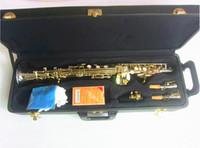 Yüksek Kaliteli B Düz Soprano Saksafon Müzik Aletleri Sax Pirinç Nikel Kılıf Profesyonel Gümüş Kaplama