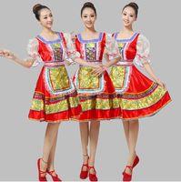 Vêtements ethniques Femmes Femmes Haute Qualité Russie Russe Traditionnelle National Dance Costume Stage Performance pour Femmes Robe