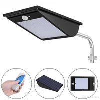 11000mAh Outdoor Led Luz Solar 110 LED movimento luzes do sensor Super Bright Noite de Segurança Luz de inundação com 3 Modo de controle remoto