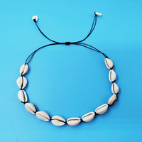Collar hecho a mano Sea Shell Charm Material natural Estilo ajustable Accesorios de joyería de playa regalo para mujer, hombre, unisex