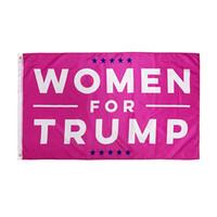 90 * 150cm Donald Trump Drapeau Femmes Bannière USA 2020 Drapeau Élection Présidentielle Filles Femmes Drapeaux Rouges HHA597