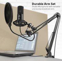 Kit per microfono per computer condensatore condensatore con condensatore con braccio a forbice regolabile stand shock Mount per YouTube Voice Over