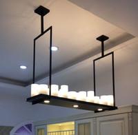 Modern Kevin Reilly Altar Pendant lambası uzaktan kumanda LED mum avize Işık Yenilikçi metal fikstürü Retro mum süspansiyon lamba MYY