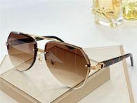 النظارات الشمسية تصميم الأزياء 0983 بسيط غير منتظم فرملس الكريستال القطع الإطار البوب في الهواء الطلق حماية الصيف uv400 الجملة جلاس
