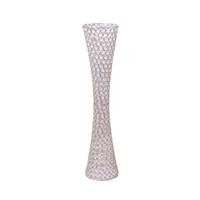 Новый стиль Довольно форма талии высокий канделябр свадебный стол центральная бисерные хрустальная ваза senyu0297