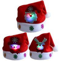 LED chapéu de luzes de Natal do chapéu de Santa alce boneco de presentes de Natal para crianças e adultos XD22142