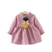 Yürüyor Çocuk Bebek Kız Uzun Kollu pamuk Sevimli Çiçek Parti Elbise Giyim günlük