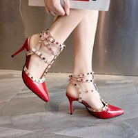 High- heeled single shoe female 2019 spring summer new Korean...